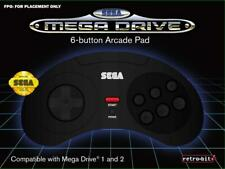 Retrobit - SEGA Mega Drive manette filaire 6 boutons - Connexion d'origine - Noi