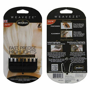 PROFESSIONAL DENMAN WEAVEZE COLOURING HIGHLIGHTING PRECISION TOOL BLACK