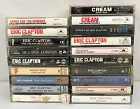 Lot of 19 Eric Clapton / Derek and the Dominos / Cream Cassette Tapes