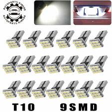 20x Super White T10 Wedge 9SMD LED Interior Light Bulbs W5W 158 168 192 194 2825