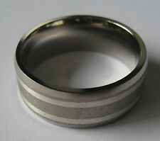 925 Sterling silver and titanium gents engagement ring