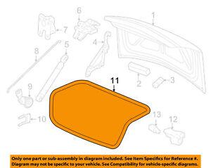 Chevrolet GM OEM 06-13 Impala Trunk Lid-Weatherstrip Seal 89025247