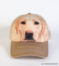 The Mountain Yellow Lab Adult Graphic Trucker Hat, Tan, Adjustable