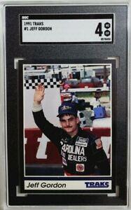 1991 Traks #1 Jeff Gordon Rookie Card RC SGC 4 VG-EX Nascar