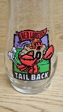 (2) Red Lobster Beer Glasses TailBack Football Large 20 oz. Tumblers 7""