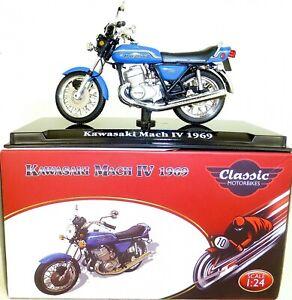Kawasaki Mach IV 1969 Motorcycle Classic Atlas 4658111 New 1:24 Boxed HI3 Μ
