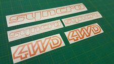 VW Syncro 4x4 Autocollants Stickers VOLKSWAGEN CARAVELLE Vanagon T3 T25 restauration