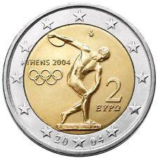 2 EURO COMMEMORATIVA GRECIA 2004 OLIMPIADI DI ATENE MOLTO RARA DA COLLEZIONE