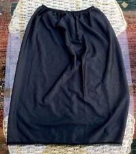 Vintage Black Nylon Satin Skirt Slip, UK 10-12, BNWOT, Fine, Semi Transparent
