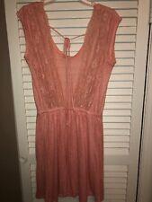 Zara Collection Backless Lace Dress Size Medium