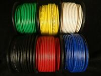 10 GAUGE WIRE 15-100 FT RED BLACK GREEN BLUE WHITE YELLOW POWER HOOK UP STRANDED