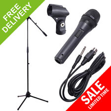 Microphone Kit Complete with Stand, Clip, Cable Karaoke DJ