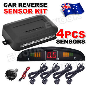 OZ LED Reverse Backup Radar Display 4 Parking Car Parking Sensor System Kit