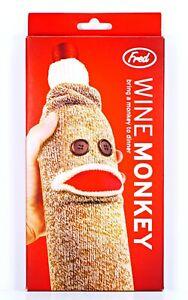 FRED Wine Monkey Wine Bottle Cover Sleeve Gift Bag Stocking Stuffer Dinner Party