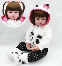 "Newborn Doll Real Lifelike Silicone Reborn Baby Dolls 18"" Toddler Girl Xmas Gift"