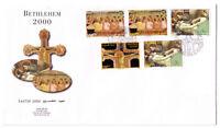 Palestinian Authority/Palestine Bethlehem Easter 2000 Large Envelope FDC 114-118