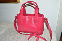 "NWT $298 COLE HAAN ""Emily"" Glazed Leather Sml Satchel Bag Crossbody Electra PINK"