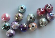 20 Mixed Hand Painted Acrylic Ball Beads Spacer Bead  Round 12mm