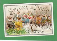 More details for spiers & pond's stores exhibit exhibition 1895 advertising card not a postcard