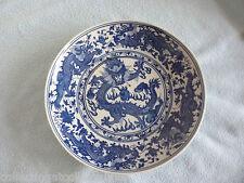 Da Qing Qianlong Nian Zhi Blue And White Five Toe Dragon  Plate