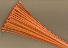 "100 11"" Inch Long 50# Pound ORANGE Nylon Cable Zip Ties Ty Wrap MADE IN USA"
