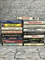 Lot of 17 Classic Country Western Cassette Tapes Billy Ray Garth Alabama Leann