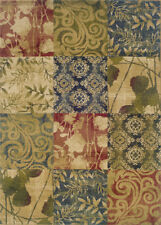 """2x8 Sphinx Multi Panel Runner Floral Scroll Area Rug - Approx 1' 10"""" x 7' 3"""""""