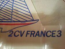STICKER ORIGINE CITROËN BATEAU 2CV FRANCE 3 /à mettre en place sur malle arrière