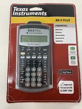 Texas Instruments BA II Plus Financial Calculator CFA/GARP/FRM Approved New