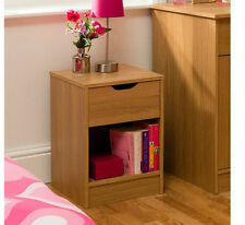 Oak 45cm-50cm Height Bedside Tables & Cabinets with 1 Drawer
