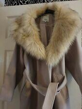 River Island 16 Coat beige/ face faux collar