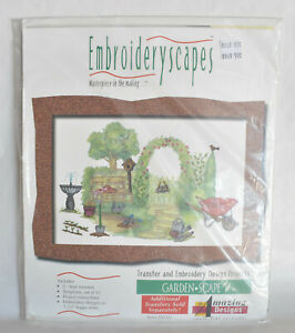 Embroideryscapes ~ Garden Scape Pattern for use w/ IBM-PC Compatible Machines
