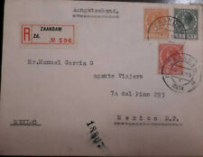 J) 1934 NETHERLAND, QUEEN WILHELMINA, MULTIPLE STAMPS, AIRMAIL, CIRCULATED COVER