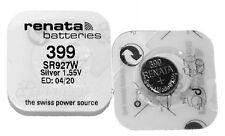 Renata 399 SR927 W Batteria Silver Oxide 1,55V 42mAh Bottone per Orologi