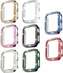 Bling Protector Case Cover Bumper Frame For Apple Watch 38mm 40mm 42mm 44mm