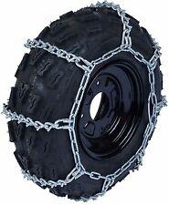 25X11X9 Tire Chains ATV UTV Quad 5.5mm V-Bar Link Snow Ice Mud Traction