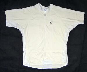 Pearl Izumi WHITE XXL 2008 cycling bike jersey cream off short sleeve men solid