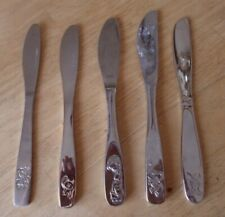 Baby Child Youth knives Kiddie Kutlery teddy girl boy cutlery lot of 5