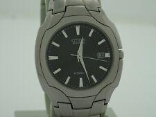 citizen eco drive men's titanium watch BM6560-54H