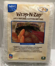 """Pellon Wrap-N-Zap 100% Natural Cotton Batting  New Sealed Packaging 36"""" x 45"""""""