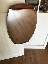 Stylish Mid Century Modern Danish Teak Oval Wall Mirror