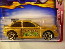 Hot Wheels Ford Escort Flamin' Hot Wheels #064 Gold