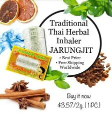 JARUNGJIT Thai Herbal Inhaler 100% Natural Aroma For Nasal Congestion, Dizziness