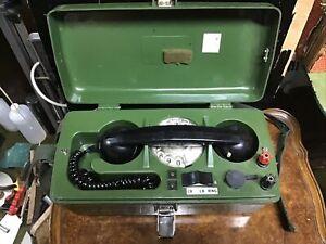 VINTAGE 1970S GPO PORTABLE LINESMAN TELEPHONE NO PO 704B, Spares Repair