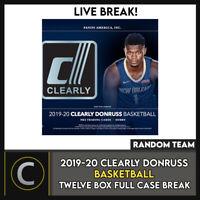 2019-20 CLEARLY DONRUSS BASKETBALL 12 BOX (FULL CASE) BREAK #B529 - RANDOM TEAMS