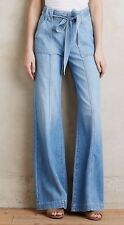 NEW 7 For All Mankind High Rise Belted Palazzo Jeans Size 31