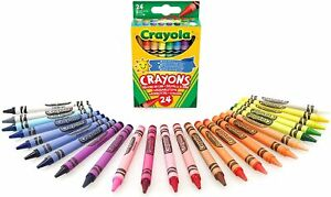 Crayola Classic Color Crayons, Peggable Retail Pack, 24 Colors52-3024 MEW