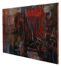 MODERN ORIGINAL OIL█PAINTING█VINTAGE█IMPRESSIONIST█ART REALISM SIGNED ABSTRACT A