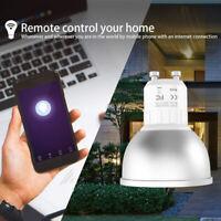 GU10 LED Smart Wireless Wifi Lights Bulb 5W RGBW APP Remote Control Lamp Home GG