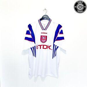 1996/97 CRYSTAL PALACE Vintage adidas Away Football Shirt Jersey (XL)